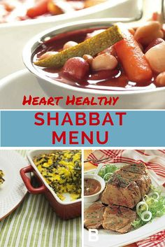 A Complete Heart Healthy Shabbat Menu easy and healthy Shabbat ideas!