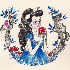 Snow White by Amanda Oei Wells for @Sketch_Dailies