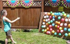 activités manuelles et jeux enfants en plein air- jeux de flèchettes avec ballons