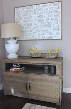 Custom Rustic Cabinet built by DIY Enthusiasts and Business Owners. The Rugged Rooster Creations