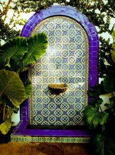 Beautiful tiled water feature.