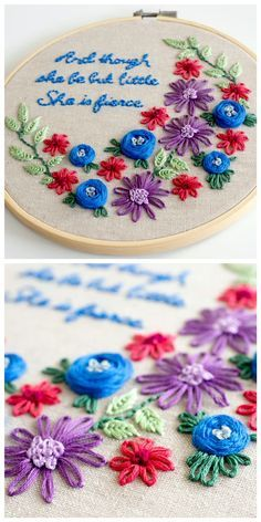 Click here to learn how to embroider simple but pretty designs - so sweet! Bonus FREE embroidery pattern in two sizes included!