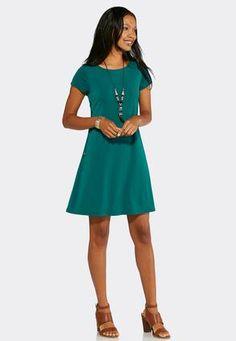 Cato Fashions Side LaceUp Swing Dress #CatoFashions