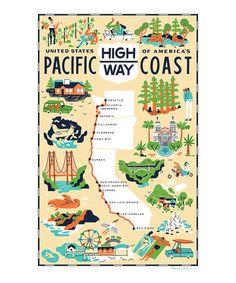 'Pacific Coast Highway' Dish Towel