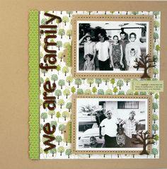 Genealogy Scrapbook Layout www.fiskars.com