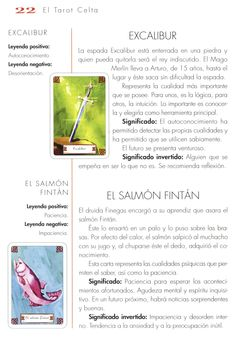 Tarot Celta, Manual, Map, Legends, Textbook, Location Map, Maps