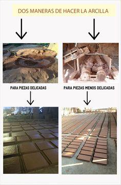Dos maneras de fabricar la #arcilla para nuestros productos de #cerámica. #construcción #rehabilitación #arquitectura