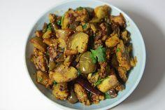 Vankaya Fry - Brinjal Fry - వంకాయ వేపుడు Taste Buds, Indian Food Recipes, Food Videos, Fries, China, Cooking, Kitchen, Indian Recipes, Porcelain