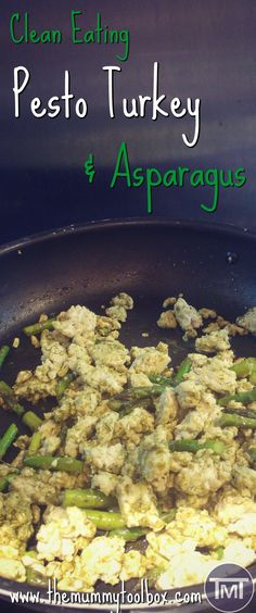 An interesting and delicious new clean eating recipe that mixes things up! This pesto turkey and asparagus is perfect for family meal prep. Healthy Living Recipes, Clean Eating Recipes, Lunch Recipes, Breakfast Recipes, Dinner Recipes, Cooking Recipes, Drink Recipes, Easy Chicken Recipes, Turkey Recipes
