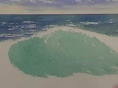 Site with tons of free watercolor tutorials -- Watercolor Ocean - Crashing Waves (Part 1)