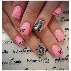 55 Bow Nail Art Ideas ❤ liked on Polyvore featuring beauty products, nail care and nail treatments