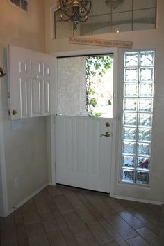 How to Make a Dutch Door - barn glass sidelights!