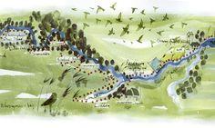 Rachel Tudor Best map of Norfolk Broads - Wherryman's Way - from Guardian Newspaper