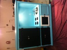 Repurposed entertainment center to a play kitchen!