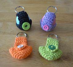 (4) Name: 'Crocheting : Keychain EOS Lip Balm Holder