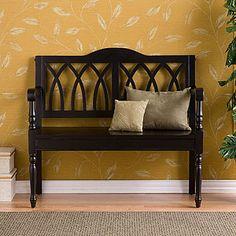 Greer Bench, Black | Living Room Furniture| Furniture | World Market