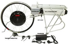 Electric front hub motor kit. Electric assist that lets you pedal or take a break using the motor.