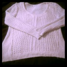 Cream & sparkle sweater. Great condition super soft sweater. Worn once. Size 1 at maurices (16/18). Maurices Sweaters Crew & Scoop Necks