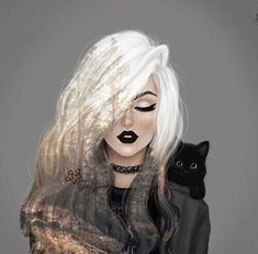 Image about cute in ♕★Girly_M★♕ by ℋ ℴ ℘ ℯ l ℯ હ હ Girly M, Art And Illustration, Beautiful Drawings, Beautiful Artwork, Beautiful Images, Dark Art, Art Inspo, Art Girl, Art Sketches