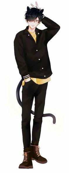 Anime Guys ~k~ Anime Cat Boy, Gato Anime, Hot Anime Boy, Manga Boy, Anime Chibi, Kawaii Anime, Anime Boys, Anime Sexy, Cool Anime Guys