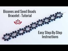 Bicones and Seed Beads Bracelet – Tutorial, How to make DIY beaded bracelet? Bicones and Seed Beads Bracelet – Tutorial, How to make DIY beaded. Seed Bead Bracelets Tutorials, Beaded Bracelets Tutorial, Jewelry Making Tutorials, Beading Tutorials, Beaded Necklace Patterns, Seed Bead Patterns, Beading Patterns, Seed Bead Necklace, Seed Beads