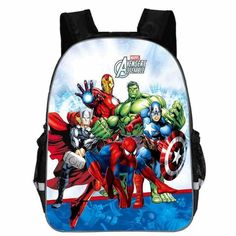 5a578dffd2 13 Inch Avengers Iron Man Backpacks Captain America Hulk Thor War School  Bags Daily Travel Bag Boys Girls Double Shoulder Bags