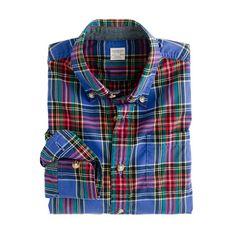 Boys' tartan shirt in atlantic/