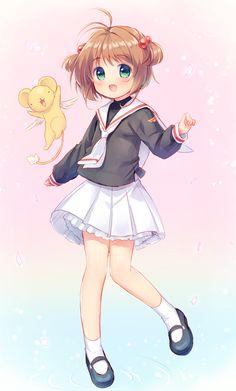 Cardcaptor Sakura   CLAMP   Madhouse / Kinomoto Sakura and Keroberos (Kero-chan) / 「かーどきゃぷたー」/「うさしろまに」のイラスト [pixiv]