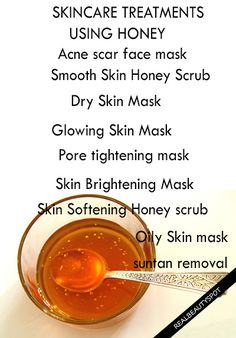 skincare treatments using honey