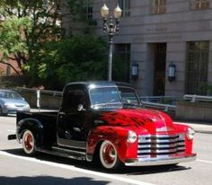 *Classic chevy truck with flames by virgie