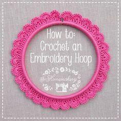 Comment crocheter autour d'un cerceau - How to crochet an embroidery hoop