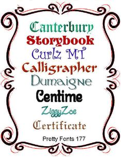 Pretty Font Series 177 - Instant download Embroidery Fonts, Machine Embroidery, Pretty Fonts, Janome, Calligraphy, Etsy, Products, Messages, Licence Plates
