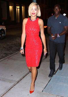 Rita Ora in Versace for the VMAs after-party