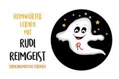 Reimwörter lernen mit Rudi Reimgeist Sprachkompetenz fördern Memory Free Printable Freebie Lerngeschichte - Hallo liebe Wolke