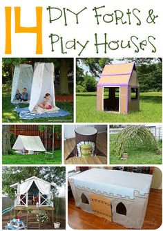 14 DIY Forts and Play Houses - Next time you are looking for a fun family project, try making one or more of these fun forts and play houses. (http://mothers-home.com/14-diy-forts-and-play-houses/)