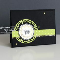 Get a sneak peek at a fun color combo featuring one of the brand new 2017-2019 Stampin' Up! In Colors - Lemon Lime Twist!