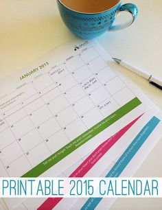 Print your copy of this handy 2015 calendar. Printable.