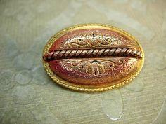 Antique Victorian brooch Rose gold mixed metal vintage brooch