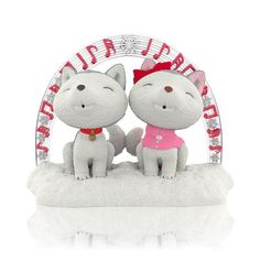 """Jingle and Belle are the stars of the popular Hallmark Storybook series...and they make quite a cute Christmas ornament pair, too, if we do say so ourselves. The """"Jingle and Bell's Christmas Sing-Along"""" Keepsake Ornament was crafted by artist Orville Wilson and will put Jingle and Belle fans in a howling holiday mood. Jingle and Belle are singing their little hearts out now—in Gold Crown stores online at Hallmark.com!"""