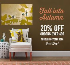 Last Day! GreenBox Art Sale – 20% Off Orders Over $99. Save on Stretched Canvas Art in Optional Shadowbox Frames, Framed Paper Art Prints, Decorative Lamps, Wall Murals, Designer Decals Sets, and more!