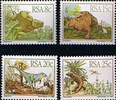 South Africa Karoo Fossils Prehistoric Animals Set Fine Mint SG 532 5 Scott 606 9 Condition Fine MNH Only one post Prehistoric Animals, Commonwealth, Fossils, Postage Stamps, South Africa, Cape, Mint, World, Mantle