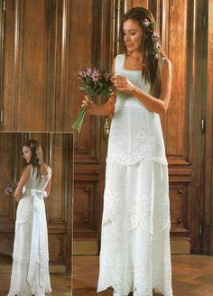 Wow!! Vestido de novia al crochet ¸.•♥•.¸¸.•♥•.¸¸.•♥•.¸