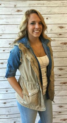 #booties #fall #fashion #flannel #vest #jeans #ripped #thestylebarboutique