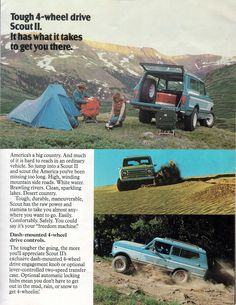 1978 International Scout II-03   -  We bought one of these in Cape Cod and drove it all the way to Alaska in the winter of 1978.  :)  Loved this thing!