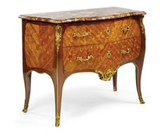 A Louis XV ormolu-mounted kingwood, amaranth and fruitwood marquetry commode, circa 1765, stamped B. Durand JME