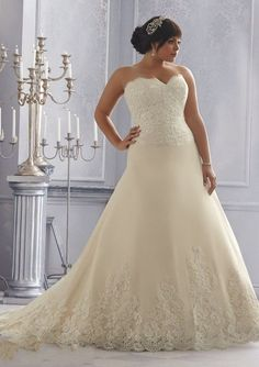 Sweetheart Lace Wedding Gown at Bling Brides Bouquet online Bridal Store #BlingBridesBouquet