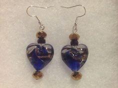Blue Lampwork heart