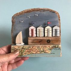 Summer days,vintage map, Driftwood  #shabbydaisies #shabbydaisies #lorainespick #driftwoodart #rusticart #map#beachuts #sailboat #harbour #handmade #seaside
