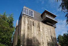 A modern addition to a WWII-era ruin - quite brilliant.