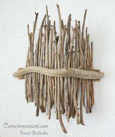 Applique, bois flotté, Caractère naturel, Benoit Galloudec
